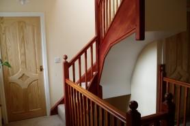 Mahogany Loft Staircase